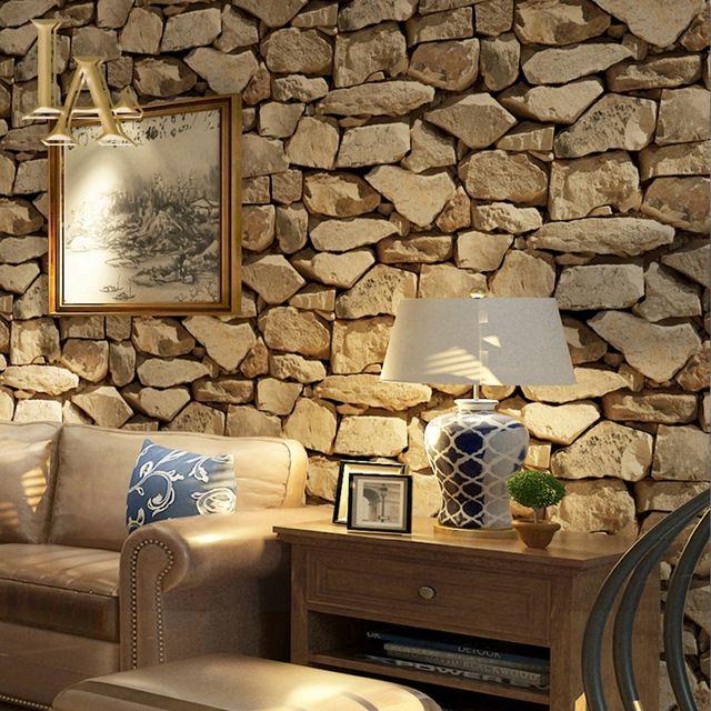 papel tapiz imitación piedra