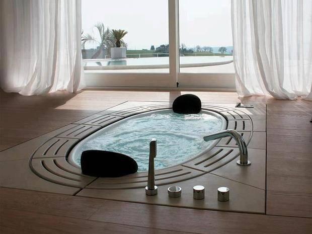 jacuzzi minimalismo y confort