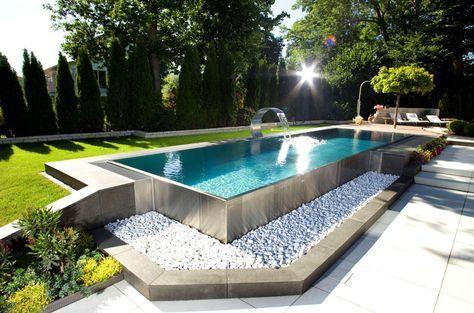 piscina de acero inoxidable