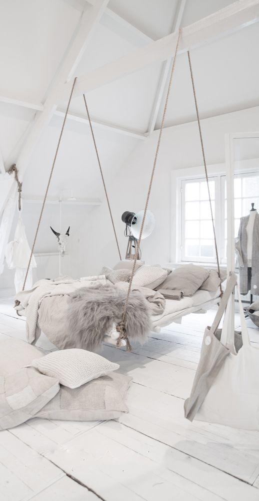 Decoración de tu hogar con estilo Nórdico - cama colgante