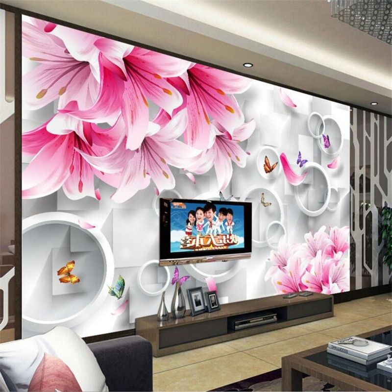 papel tapiz con flores