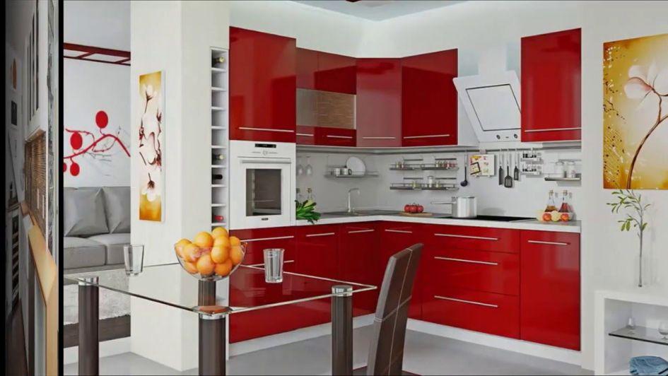 decoración de cocinas pequeñas modernas y elegantes - rojas