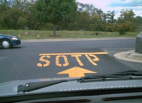 sotp en vez de stop