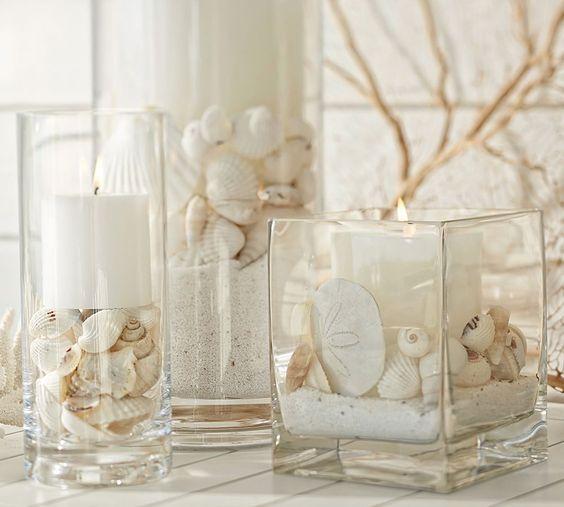 Decoración con jarrones de cristal (2)