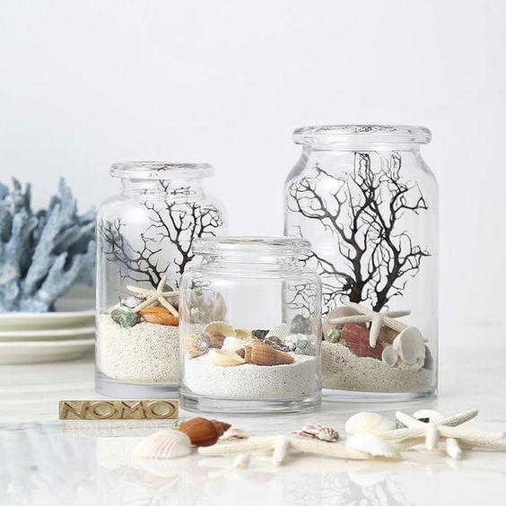 Decoración con jarrones de cristal (3)