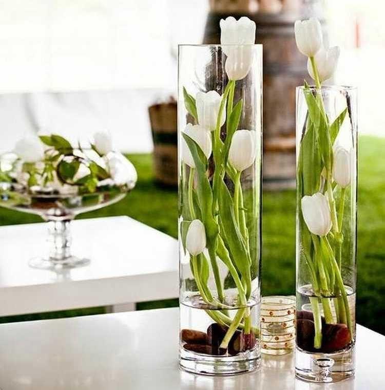 Decoración con jarrones de cristal (5)