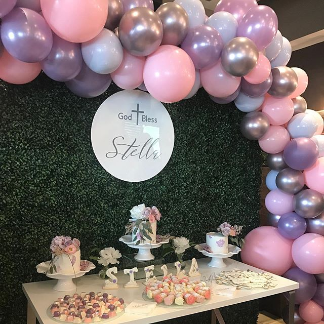 decoración con globos lisos