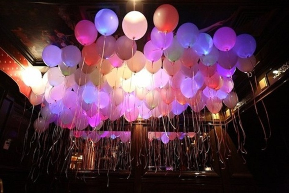 decoracion con globos led