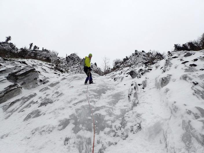 Repelling after finishing Parasol Gully