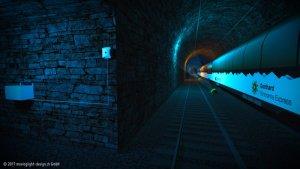 Visualisierung Tunnel Poynting Antenne