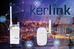 Kerlink iTalks auf IoT Hintergrund