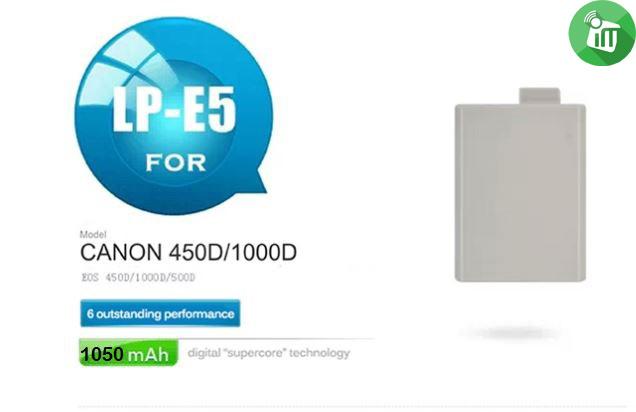 Pisen LP-E5 Camera Battery Charger for Canon 450D1000D (3)