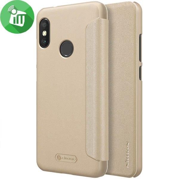 Nillkin Flip Cover Sparkle Leather Case For Xiaomi Mi A2 Lite Redmi 6 Pro