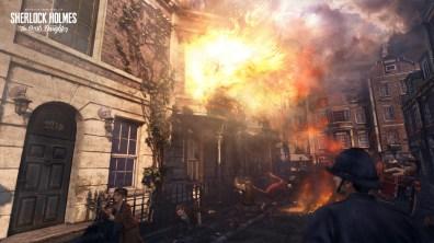 Actualité - Sherlock Holmes - The Devil's Daughter - explosion