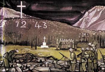 «Καλάβρυτα - Η εκτέλεση». Εργο του Τάσσου (1985)