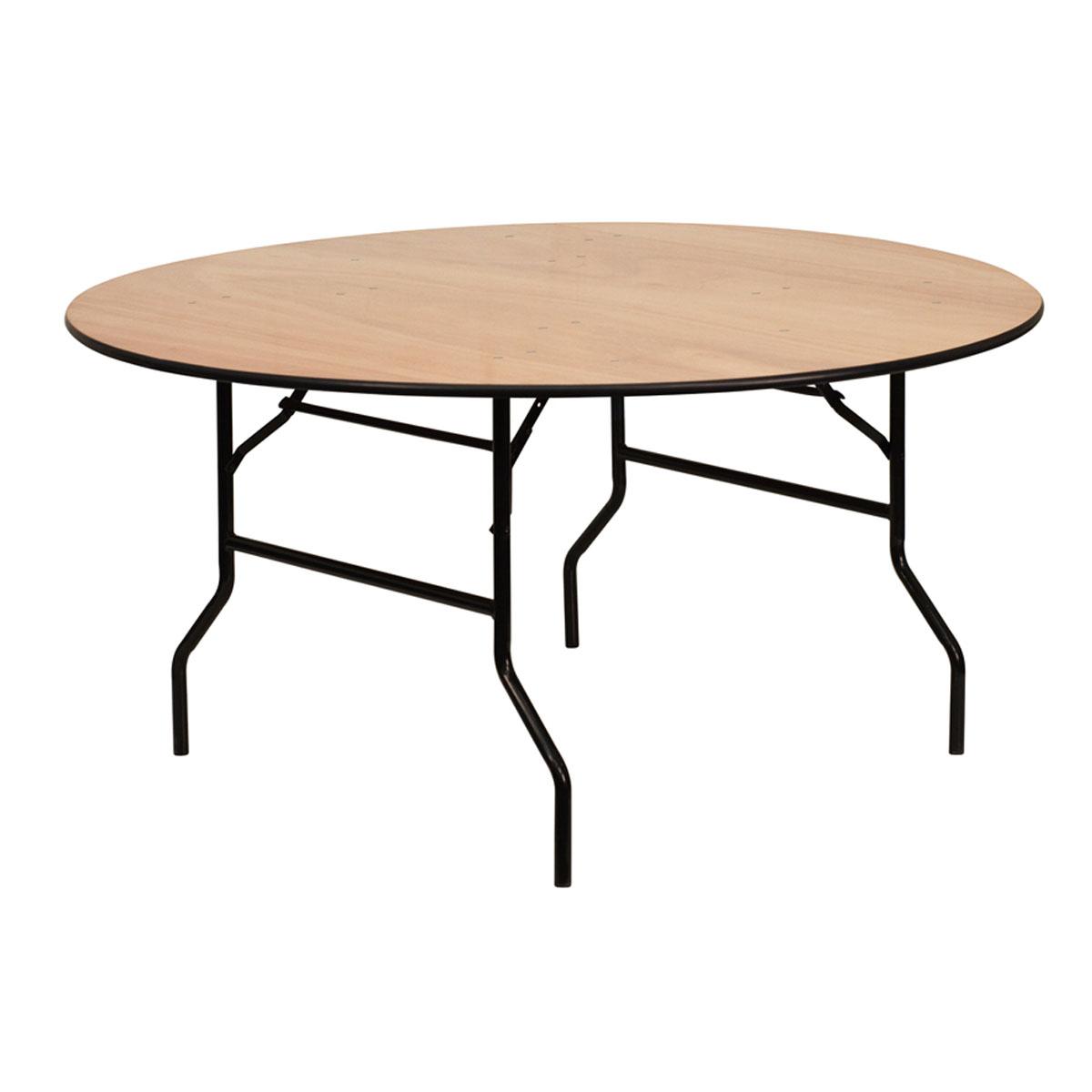 table pliante ronde bois 183 cm