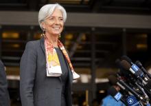 Christine Lagarde au FMI.