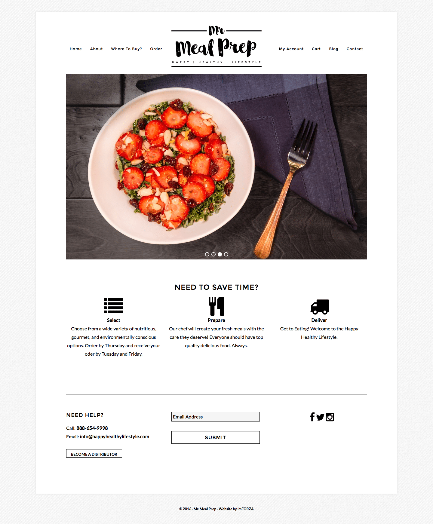 Food Delivery WordPress Website for Mr. Meal Prep