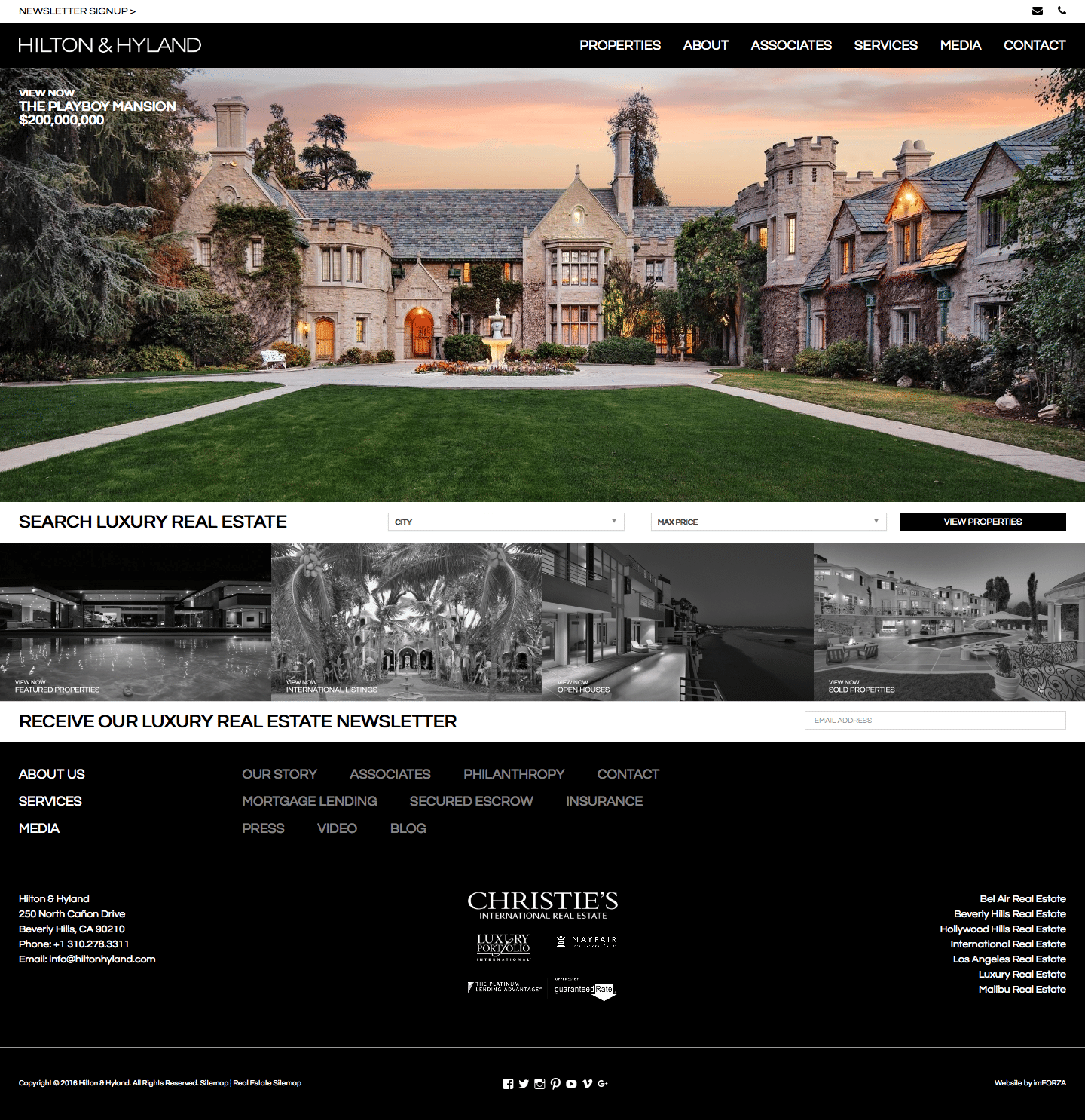 Custom WordPress Real Estate Website for Hilton & Hyland (by imFORZA)