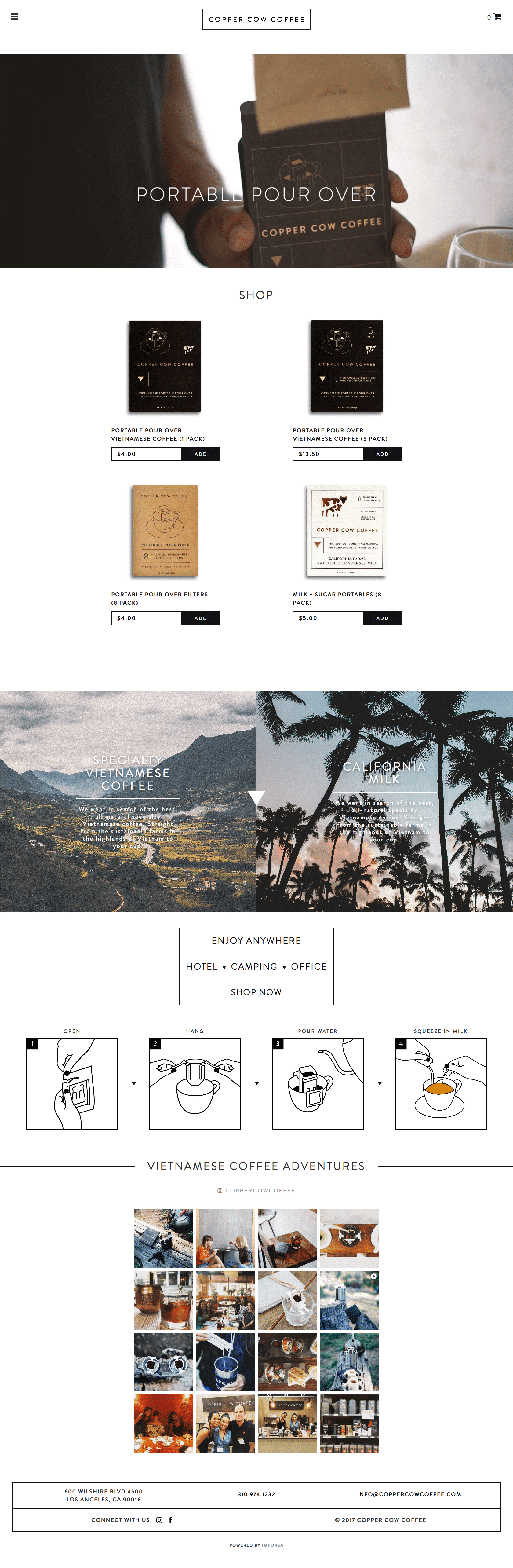 Copper Cow Coffee - Custom WooCommerce Website by imFORZA