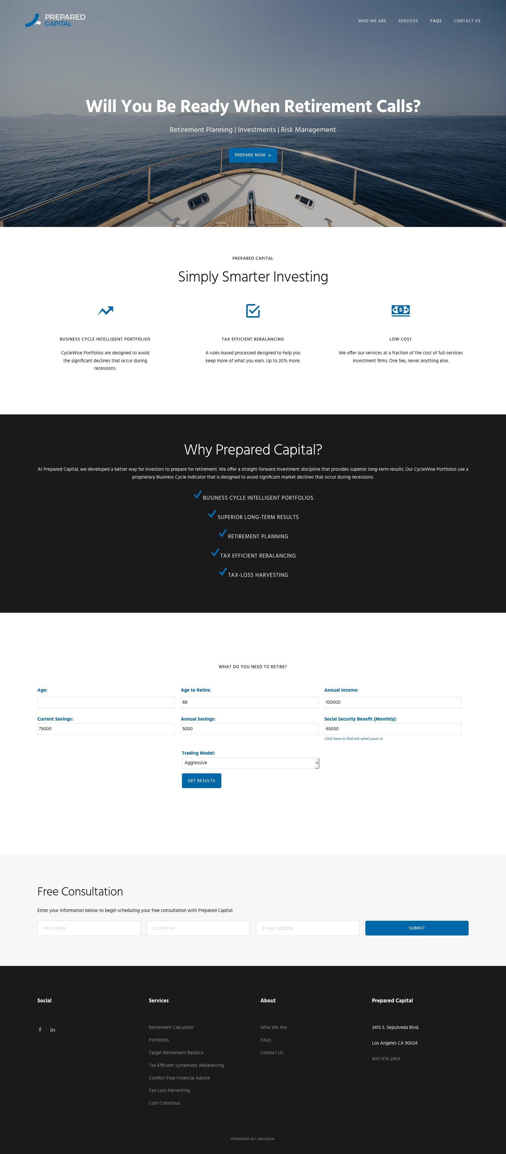 Prepared Capital - Template WordPress Website by imFORZA