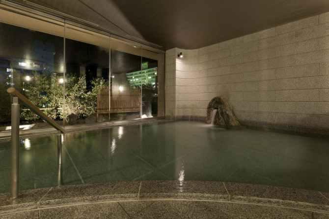 【絹の渓谷 碧流】大浴場