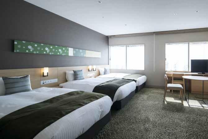 【京都ユウベルホテル】バリアフリールーム(定員3名・34平米)