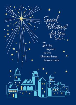 Star Of Bethlehem Blessing Christmas Card Cardstore