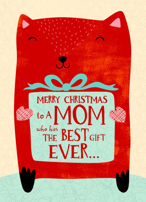 Best Christmas Mom Christmas Card | Cardstore