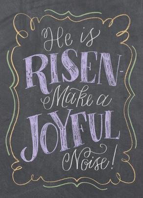 He Is Risen Chalkboard Design Easter Card Cardstore
