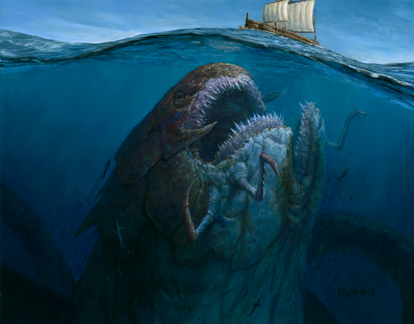 48112 fantasy monster huge sea monster jpgGiant Sea Monster Wallpaper