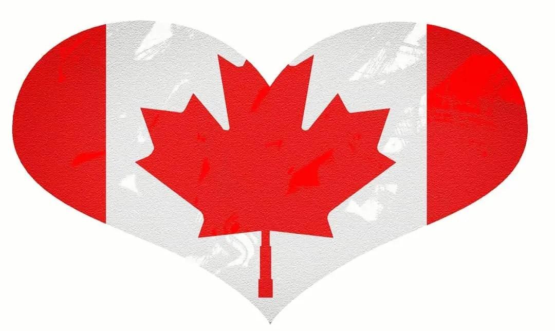 Logo de quem tem coração para imigrar para o Canadá