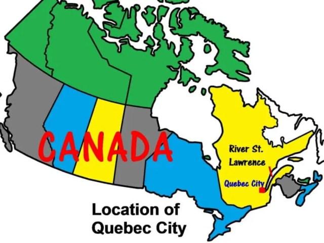 Localização da Cidade de Quebec no mapa do Canadá - Quebec City