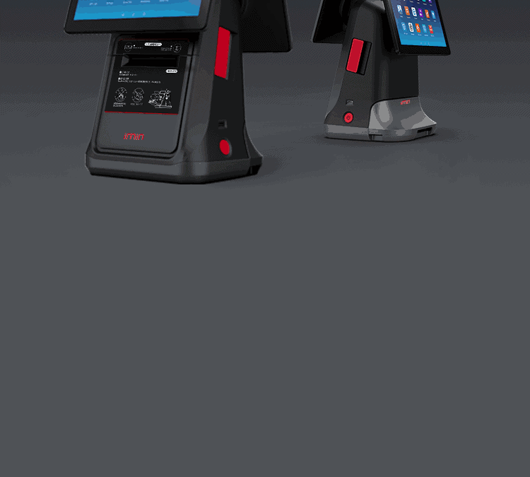 All in one touchscreen pos terminal
