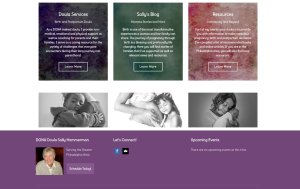 imi web design screenshots of sallydoula.com services