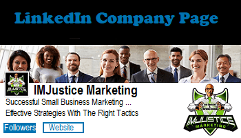 Company Page of IMJustice Marketing on LinkedIn