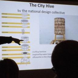 De City Hive in de vorm van een waterbassin
