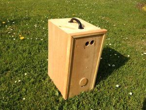 Schwarmkasten_ohne_Bienen, Bienenschwarm Schwarmfangkiste