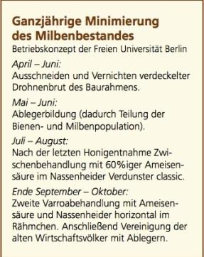 Betriebskonzept zur Varroabekämpfung der freien Universität Berlin