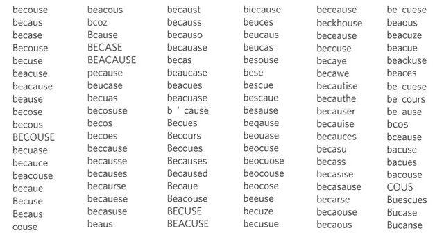 formas-escribir-mal-because