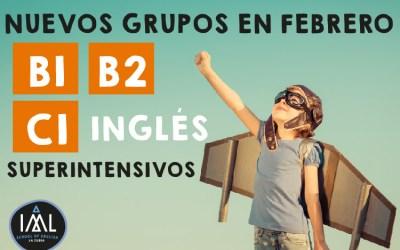 Cursos superintensivos de inglés en Granada (Febrero 2018)