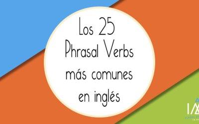 Los 25 phrasal verbs más comunes en inglés