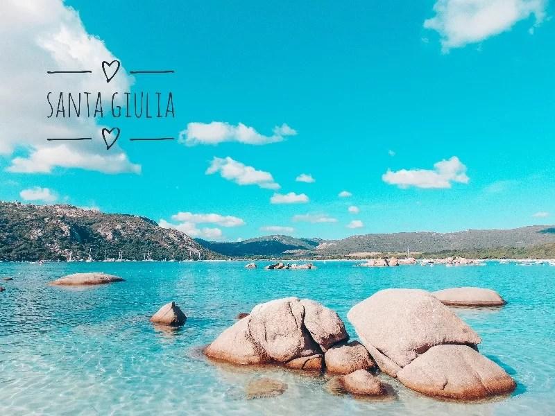 Corsica cosa vedere Santa giulia Beach