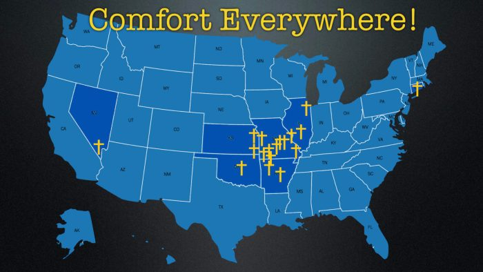 map of joplin comfort dog deployments