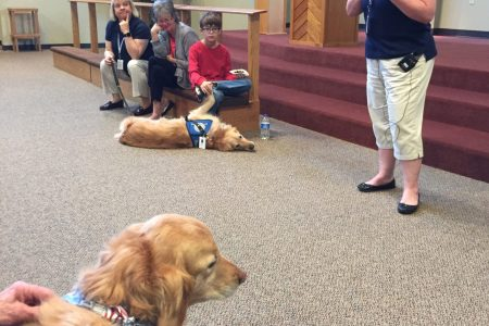 Heidi Comfort Dog presentation