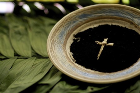 What is Lent? bowl of ashes and palms. Immanuel Lutheran Church LCMS. Joplin, Missouri.