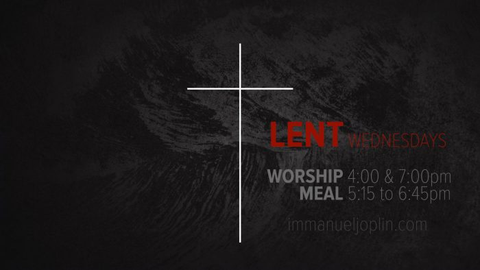 Lent Wednesday 2019 at Immanuel Lutheran Church in Joplin