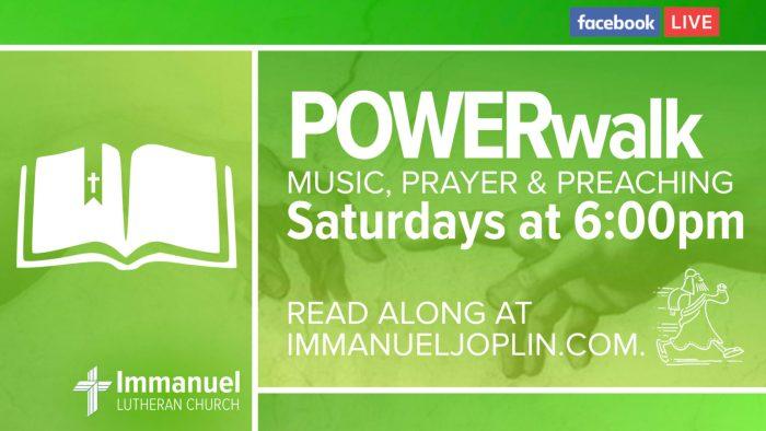 power walk saturday worship service music prayer preaching genesis immanuel lutheran church joplin missouri
