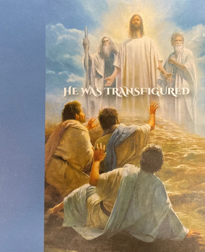 Transfiguration Sunday bulletin cover. Immanuel Lutheran Church LCMS. Joplin Missouri.