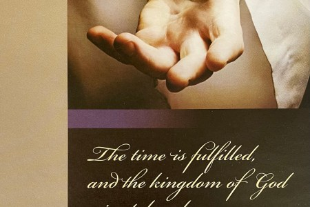 lent 1. The time is fulfilled, and the kingdom of God is at hand; repent and believe in the gospel. Immanuel Lutheran Church LCMS. Joplin Missouri.